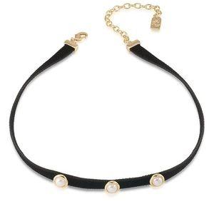 Lauren Studded Velvet Choker Necklace.
